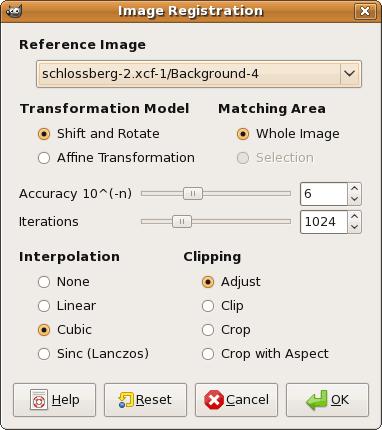 gimp image registration