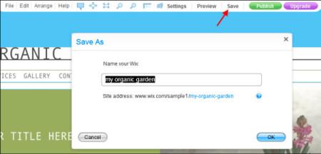 site name wix