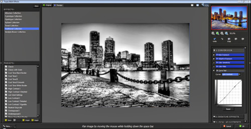 topaz bw effects interface