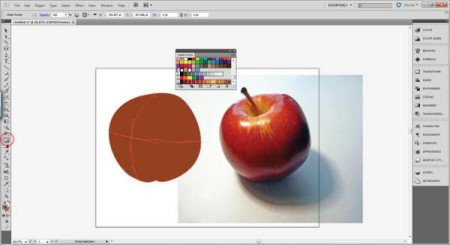 AI Gradient Mesh Tutorial Apple Step 12