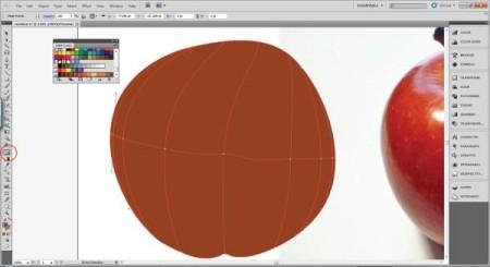 AI Gradient Mesh Tutorial Apple Step 13