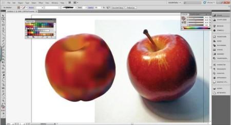 AI Gradient Mesh Tutorial Apple Step 24