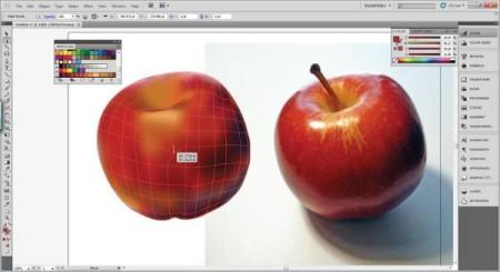 AI Gradient Mesh Tutorial Apple Step 25