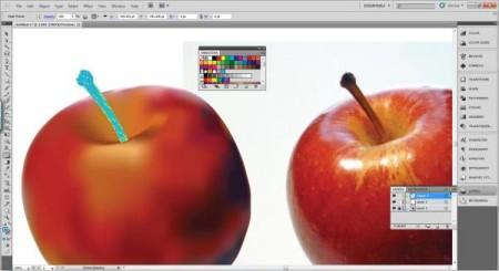 AI Gradient Mesh Tutorial Apple Step 26