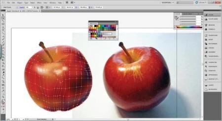 AI Gradient Mesh Tutorial Apple Step 28