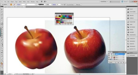 AI Gradient Mesh Tutorial Apple Step 29