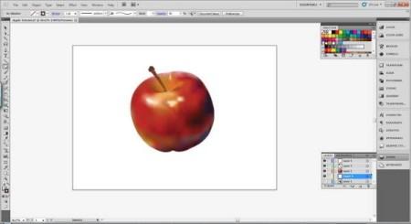 AI Gradient Mesh Tutorial Apple Step 36