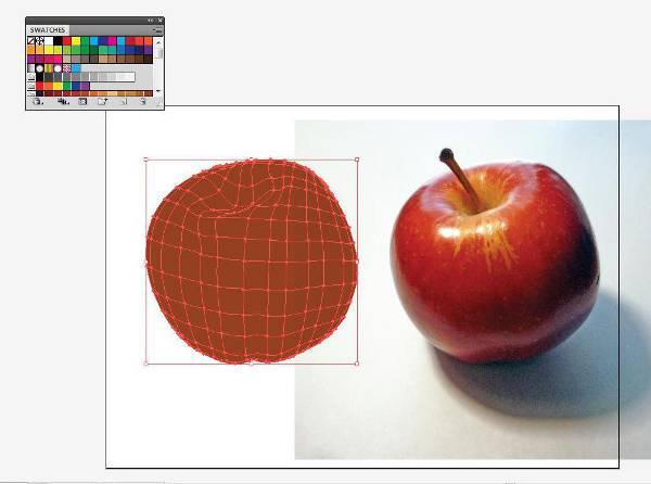 AI Gradient Mesh Tutorial Apple Step 18