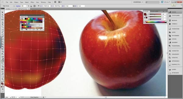 AI Gradient Mesh Tutorial Apple Step 21