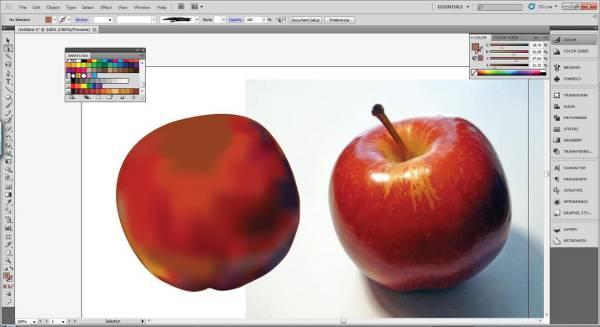 AI Gradient Mesh Tutorial Apple Step 22