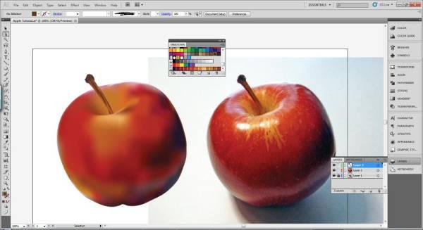 AI Gradient Mesh Tutorial Apple Step 27