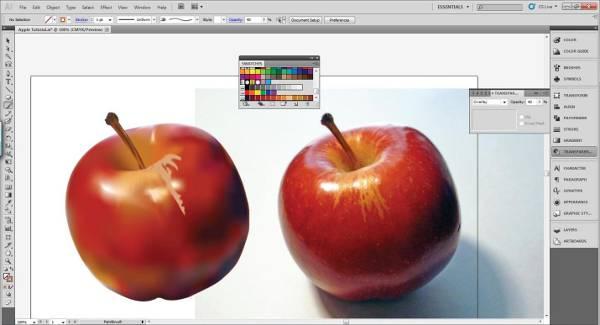 AI Gradient Mesh Tutorial Apple Step 32