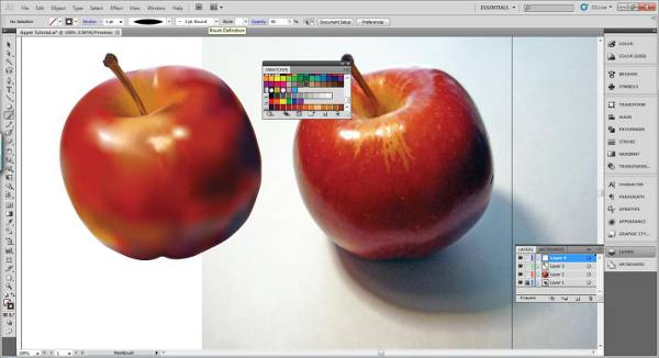 AI Gradient Mesh Tutorial Apple Step 34
