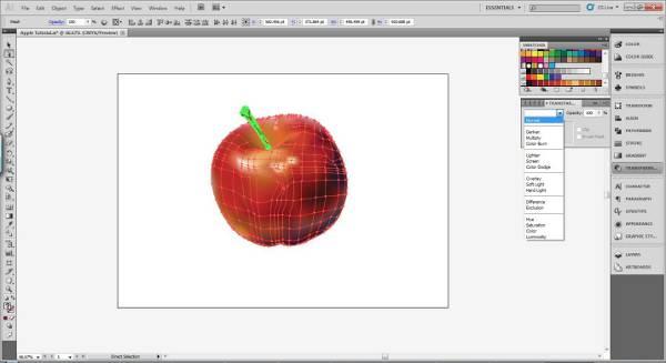 AI Gradient Mesh Tutorial Apple Step 35