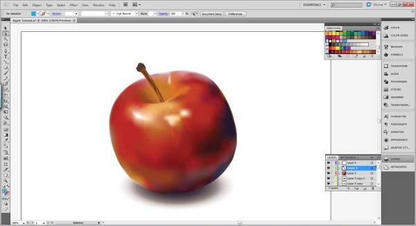 AI Gradient Mesh Tutorial Apple Step 38