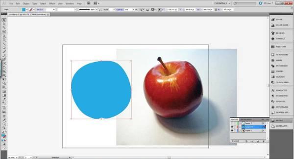 AI Gradient Mesh Tutorial Apple Step 8