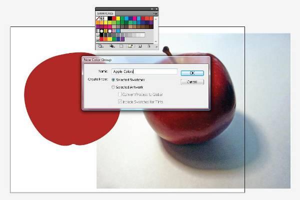 AI Gradient Mesh Tutorial Apple Step 9
